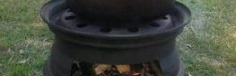 Мангал из дисков автомобиля — компактное решение для пикника