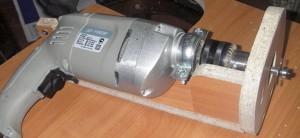 пример ручного фрезера из дрели