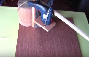 основание сверлильного станка из деревянного кругляка