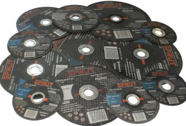 различные размеры абразивных дисков