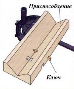 приспособление шпонка - ласточкин хвост