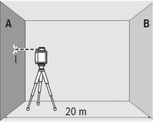 оценка точности лазерного уровня - шаг 1