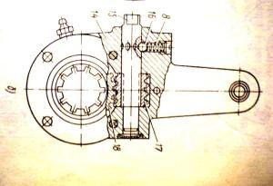 Трещотка от Камаза - чертеж