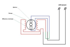 схема включения прямого вращения
