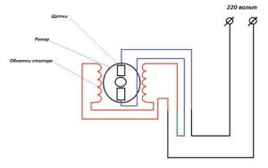 схема включения обратного вращения