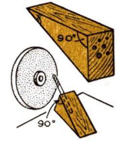 схема присособления для заточки из дерева