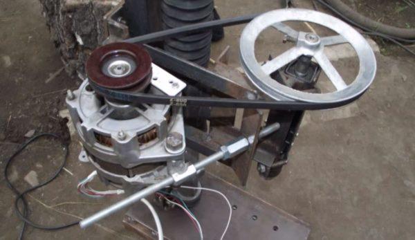 устанавливаем мотор на каретку
