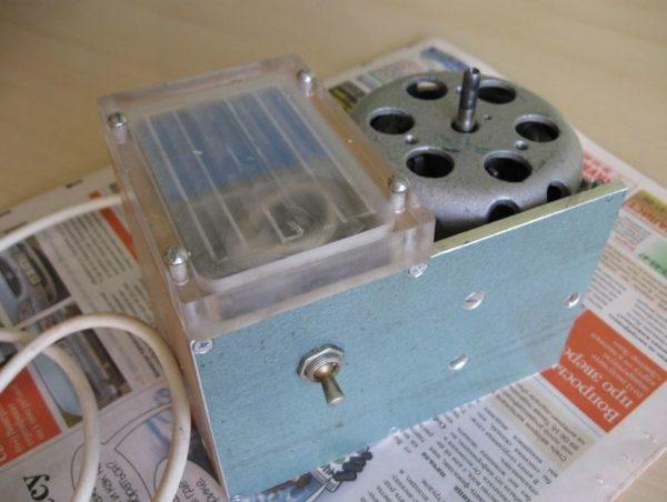 устанавливаем асинхронный двигатель
