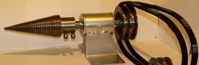 конус дровокола на ременной передаче