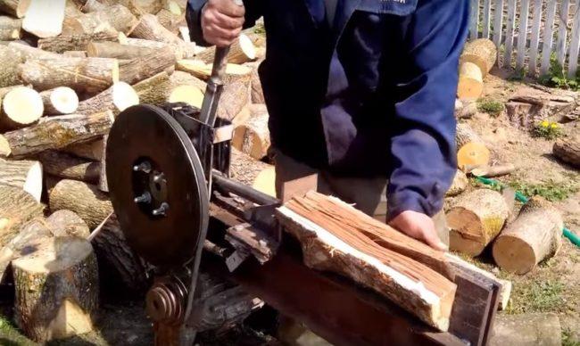 реечный дровокол
