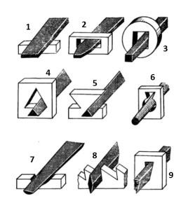 обработка заготовки напильниками