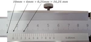 показания шкалы точностью 0,05 микрон
