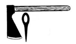 Фигурный резчиский топор