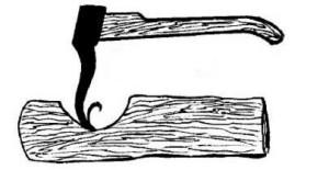 топор для выбора вогнутых поверхностей
