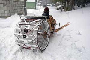 колесный снегоход на грунтозацепах