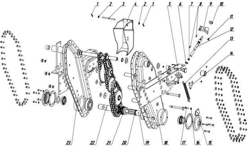 схема редуктора мотокультиватора