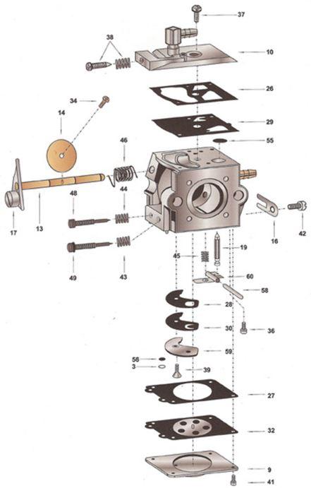 схема карбюратора бензопилы