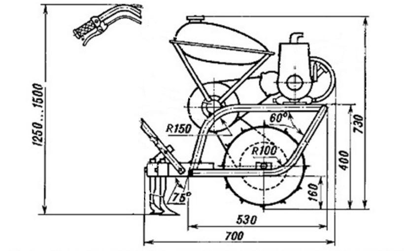 сборочный чертеж мотокультиватора
