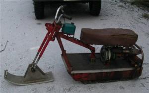 снегоход из бензиновой пилы