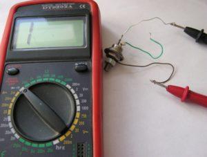 проверяем мультиметром тиристор