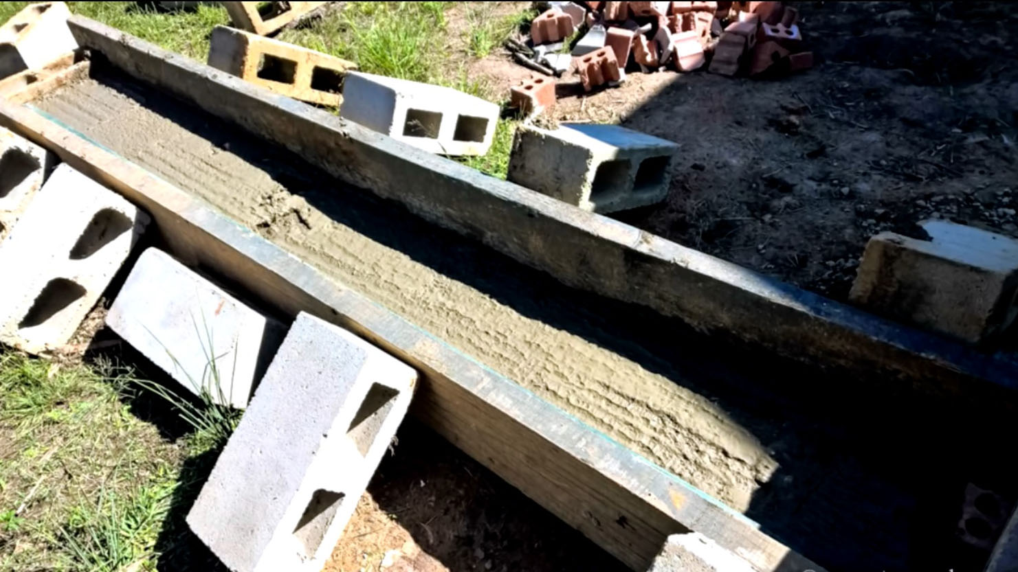 бетонирование подушки под дымоотвод коптильни