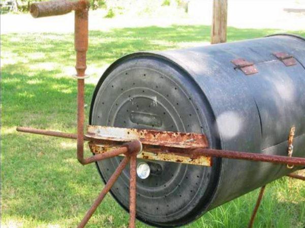 ручная бетономешалка из бочки
