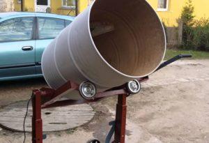 Самодельная бетономешалка с электроприводом