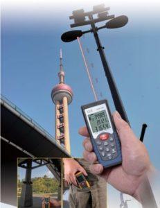 измерение лазерным дальномером на улице