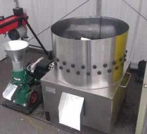 перосъемная машина из центрифуги