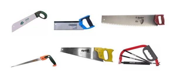 различные виды ножовок