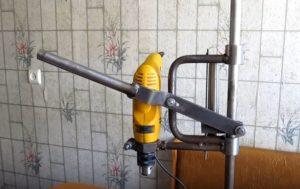 самодельная стойка для дрели из труб