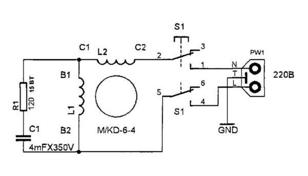 Электрическая схема дрели