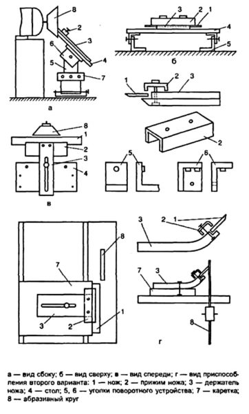 чертеж приспособления для заточки ножей