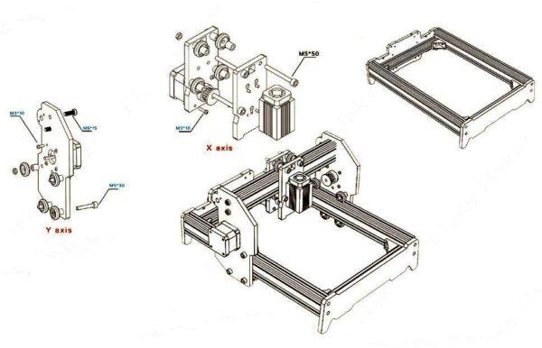 схема Самодельного лазерного гравера