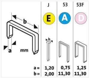 размеры П-образной скобы