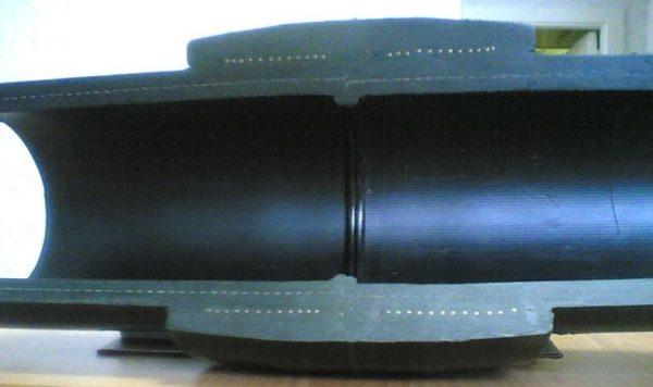 Электросварная муфта в разрезе