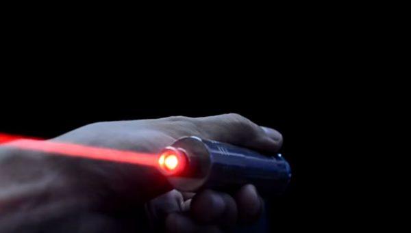 самодельный лазер в работе