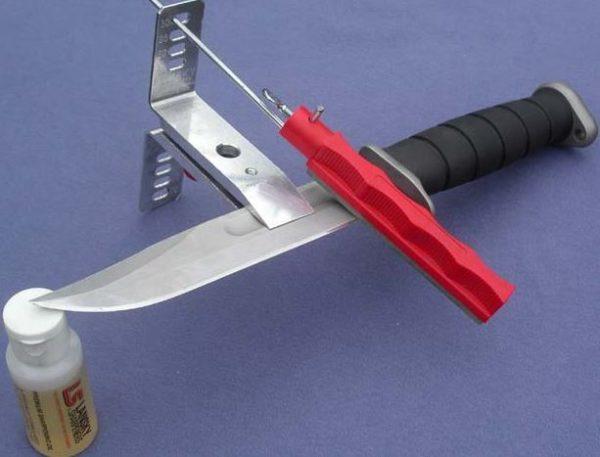 принцип работы приспособления для заточки ножа