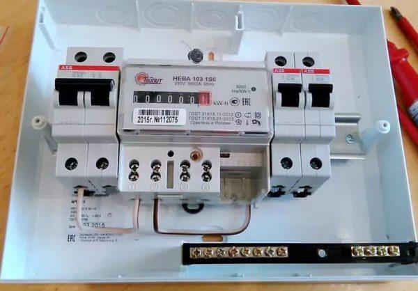 пример подключение электрического счетчика