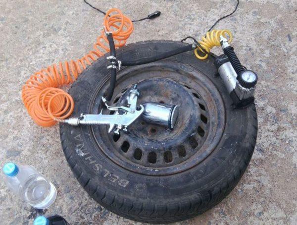 самодельный компрессор из колеса от авто