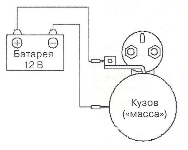 прямое подключение стартера к аккумулятору
