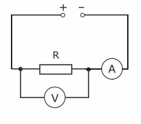 схема электроцепи из резисторов
