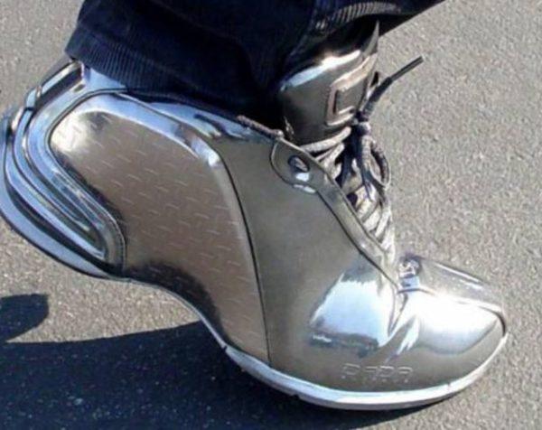 хромированная обувь