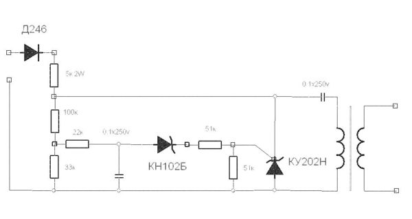 схема осциллятора из катушки зажигания