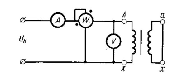 схема короткого замыкания трансформатора