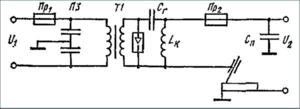 Схема осциллятора для сварки алюминия