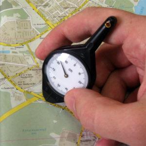 измерение дороги по карте с помощью курвиметра