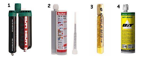химические анкеры разных производителей