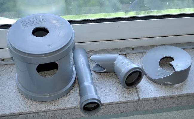 набор деталей для изготовления самодельного пылеуловителя