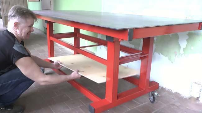 Самодельный сварочный стол в готовом виде